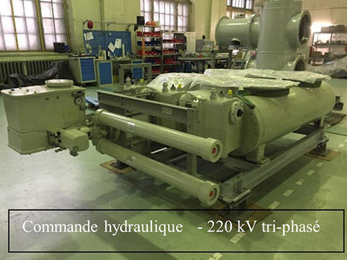 commande hydraulique 220kv tri phase